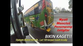 BIKIN KAGET!! Tiba tiba bus berlari zig-zag di tengah hujan