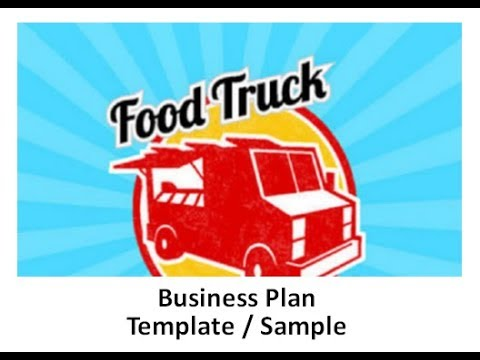 business plan for a food truck template sample youtube