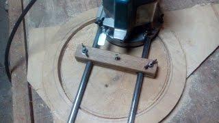 Делаем фланцы из фанеры(Чтобы сделать фланцы для стружкоотсоса пришлось сначала изготовить приспособление для фрезера., 2016-06-27T08:55:51.000Z)