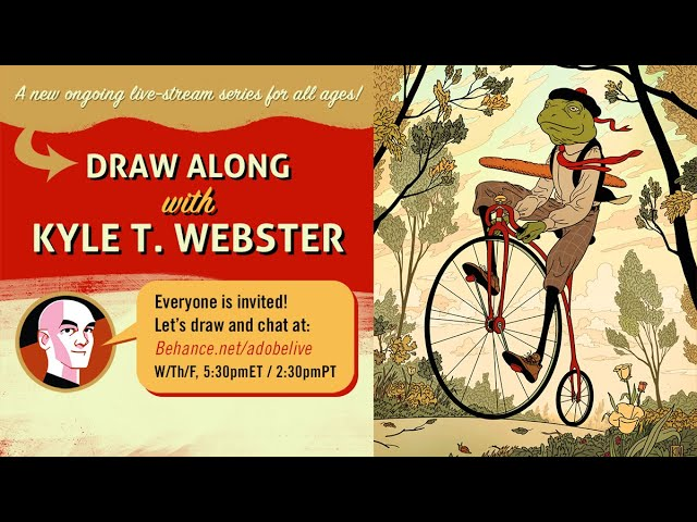 Draw Along with Kyle T. Webster - 1 of 3