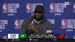 LeBron James postgame on alleged fatigue, NBA Finals streak as Cavs face elimination vs. Celtics