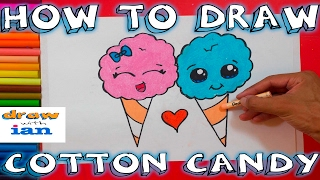 How to Draw Cute Cotton Candy
