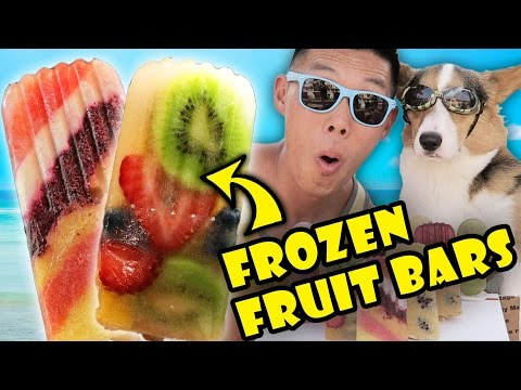 SUMMER POPSICLES FROZEN FRUIT BAR DIY   REFRESHING & HEALTHY - Life After College: Ep. 491