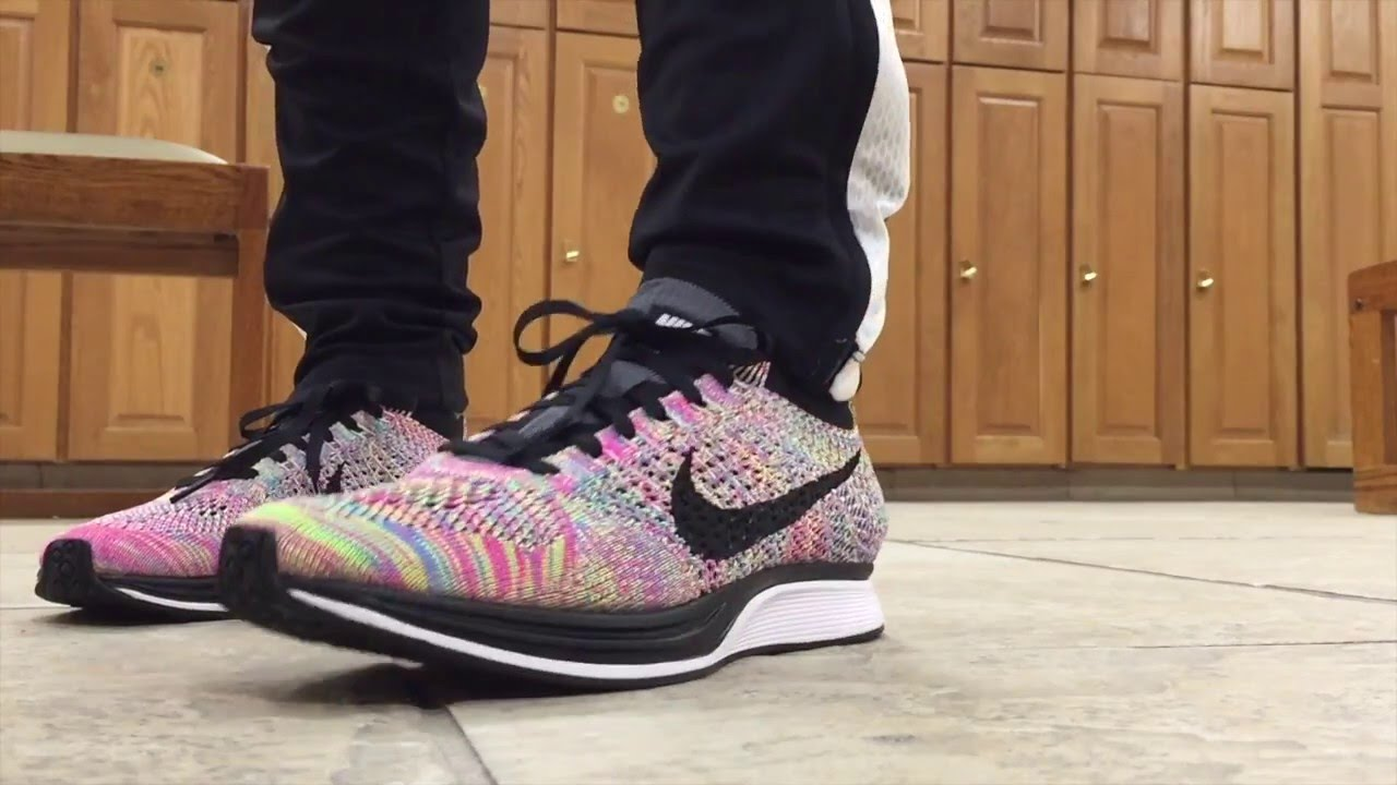 6c7026b59f416 Nike Flyknit Racer Multicolor 2016 Unboxing On Feet - YouTube