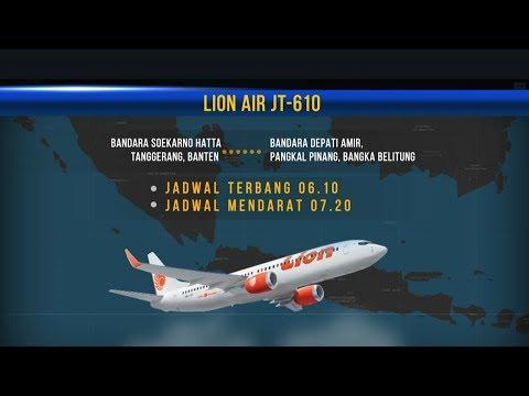 Kronologis Jatuhnya Pesawat Lion Air JT610