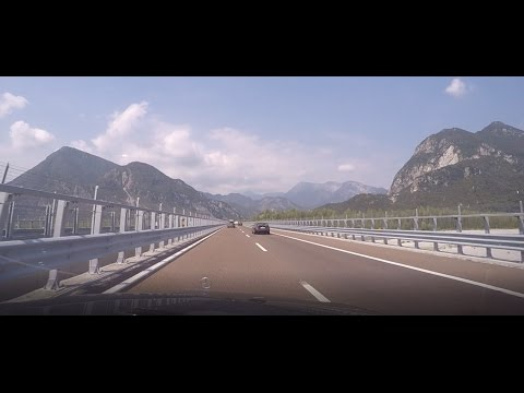 From Garda lake Italy to Wien Austria through Alps 4.9.2016