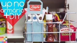 Melhorias nos armários da Cozinha + DIY suporte para lanches