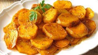 Patatas en salsa a la sartén. Pocos ingredientes y mucho sabor