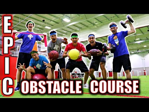 EPIC OBSTACLE COURSE IN GIANT SPORTS COMPLEX!!