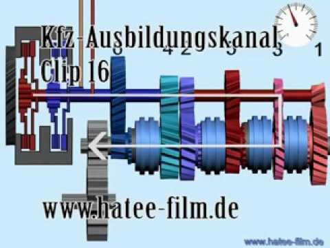 16 Animation. DSG Getriebe - Direct Shift Gearbox - Трансмиссия DSG