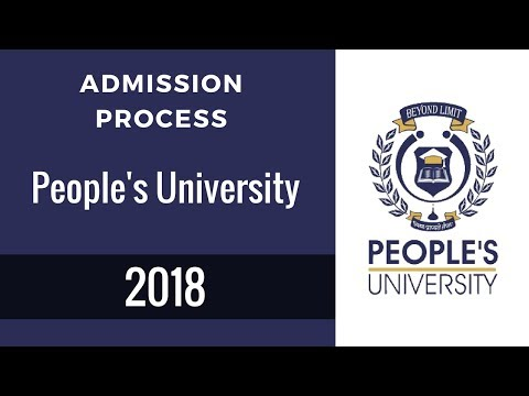 Admission Process People's University 2018
