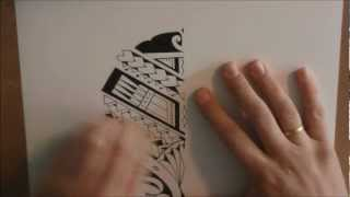 How to draw a Maori/Samoan style calf tattoo design