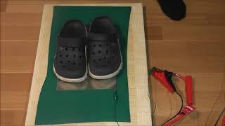 「静電気帯電防止靴は本当に人体除電に有効か?」の実験