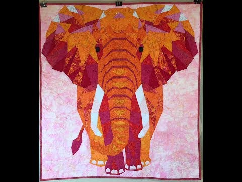 Elephant Abstractions Violet Craft