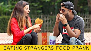 Eating Cute Girls Food Prank @That Was Crazy