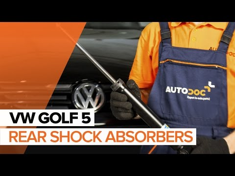 How to replace rear shock absorbers on VW GOLF 5 TUTORIAL | AUTODOC