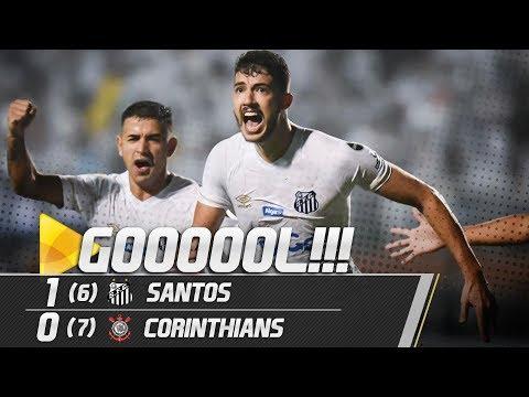 Santos 1 (6) x (7) 0 Corinthians | GOL | Paulistão (08/04/19)