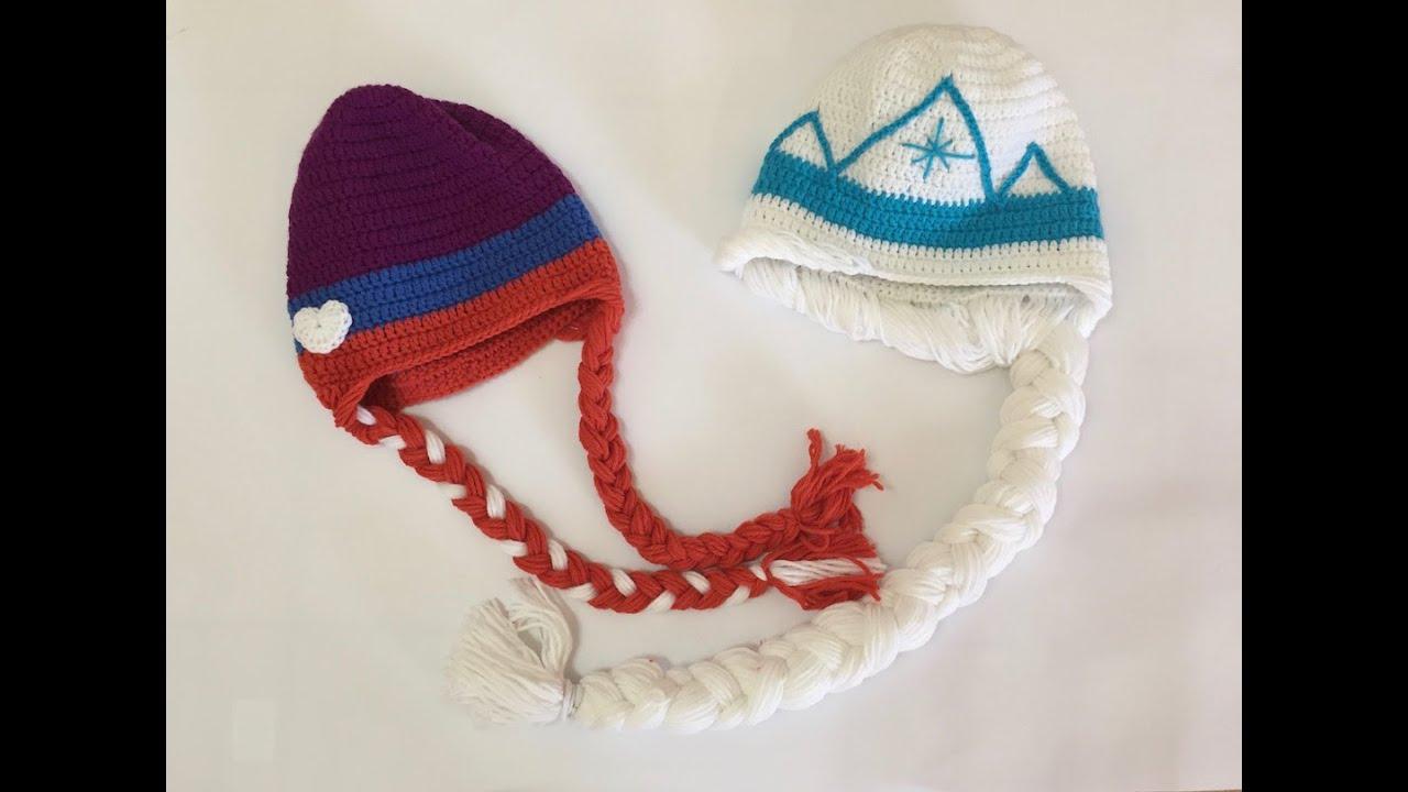 Tuto bonnet elsa et anna la reine des neiges au crochet - Ana reine des neiges ...