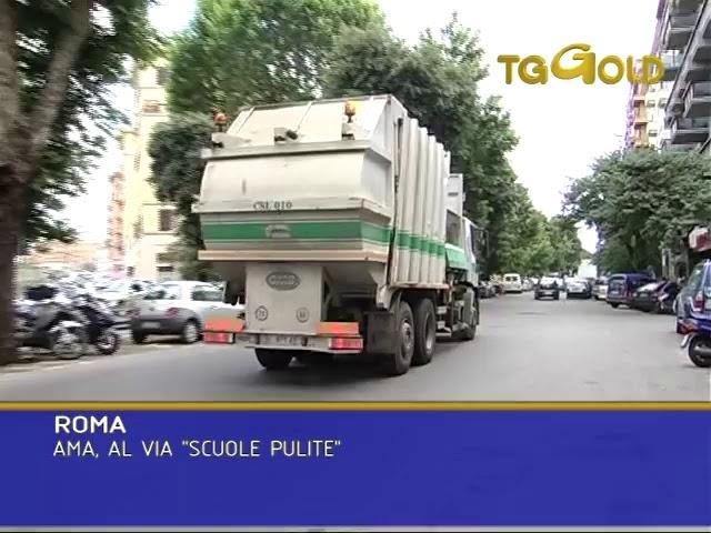 Tg Gold ROMA AMA, AL VIA SCUOLE PULITE