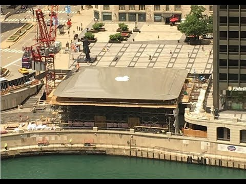 Chicago's new Apple store has a MacBook Air for a roof