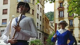 Video Pasacalles Gigantes de Donosti San Sebastián Semana Grande 2018 Erraldoiak Aste Nagusia download MP3, 3GP, MP4, WEBM, AVI, FLV Oktober 2018
