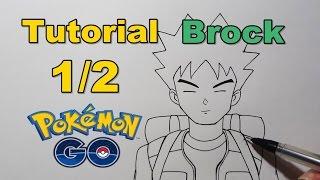 Como Desenhar e Colorir Brock 1/2 Pokémon - How to Draw Brock