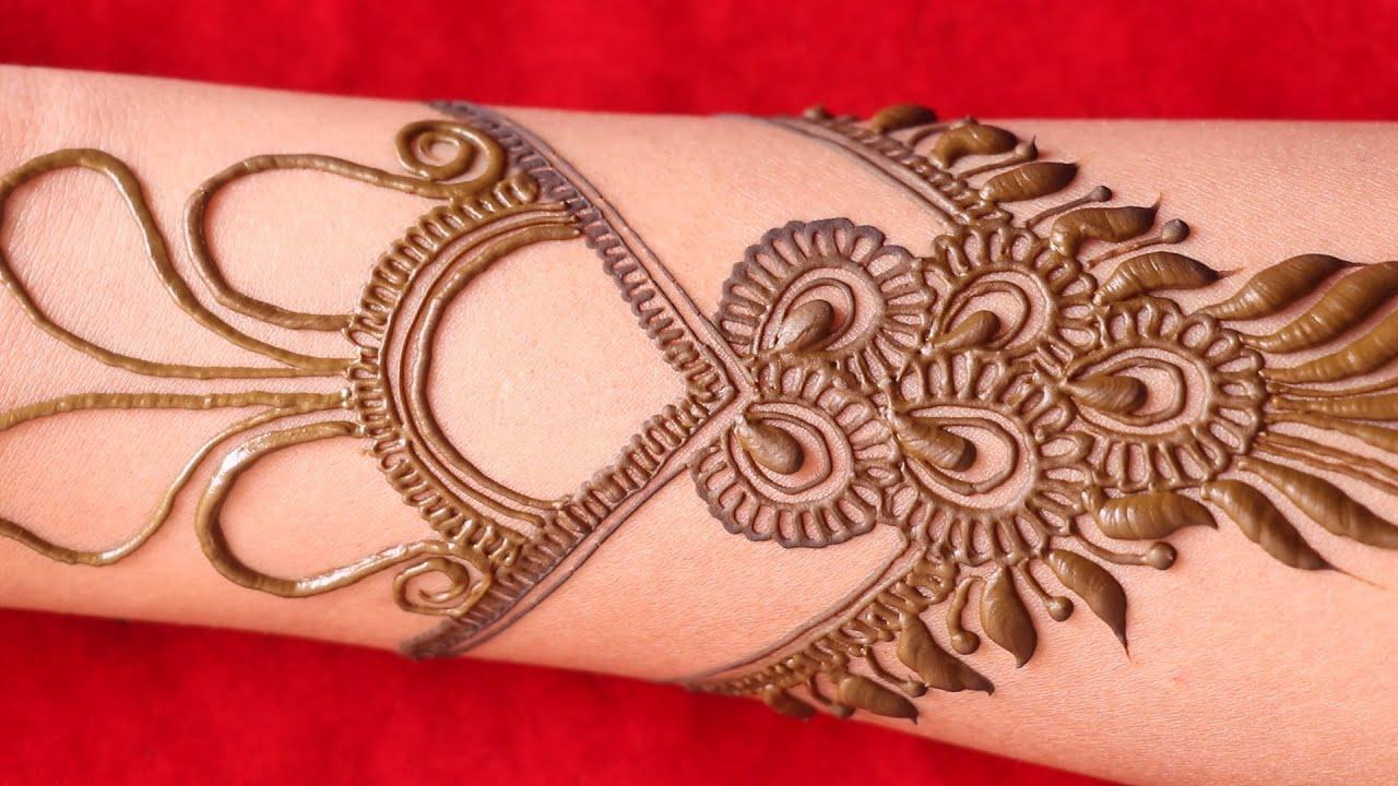 bharma arabic full hand karwa chauth special bridal mehndi design    arebic easy dhulan henna mehndi