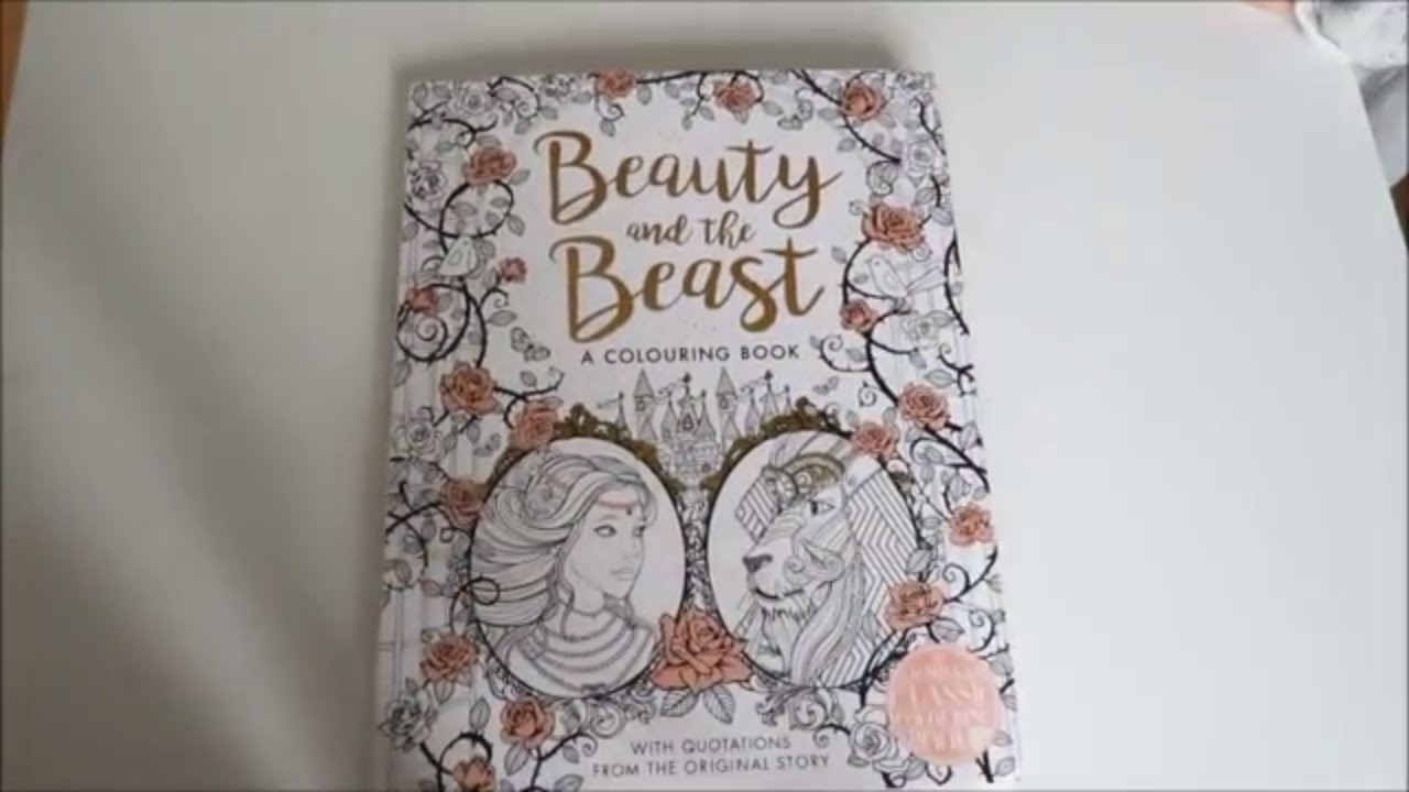 - Beauty And The Beast Colouring Book Adult Colouring Helps