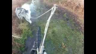 Man, Dog & Tufftrail Gravity Scooter Agility Training
