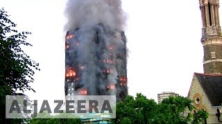 London tower fire: People were \'jumping out of windows\'