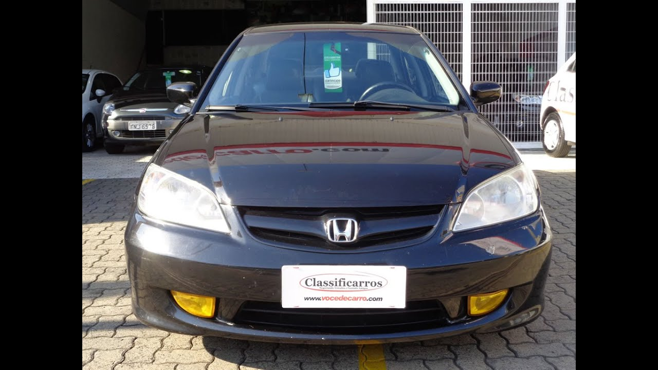 Honda Civic LX 1.7 16v 2006   YouTube