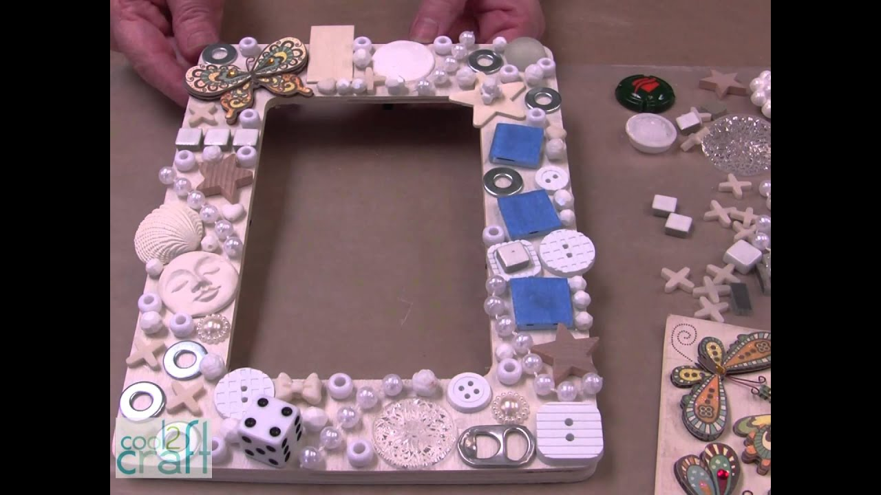 How-to make an Embellished Picture Frame - YouTube
