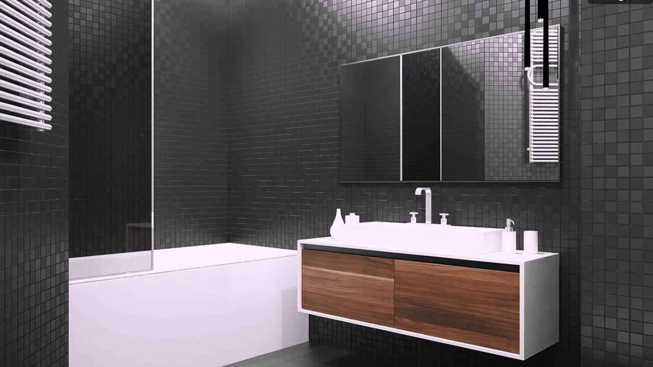 Schwarz Fliesen Moderne Badezimmer