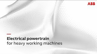 Video: Electrical powertrain for heavy working machines