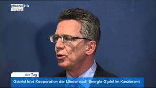 Tarifeinigung - Thomas de Maizière & Thomas Böhle zur Einigung im öffentlichen Dienst am 01.04.2014