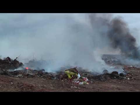 Пожар на свалке Нижний Чир.