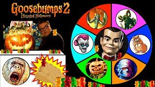 Download Video GOOSEBUMPS 2 Haunted Halloween SPINNING WHEEL SLIME GAME w/ Spooky Surprise Toys MP3 3GP MP4
