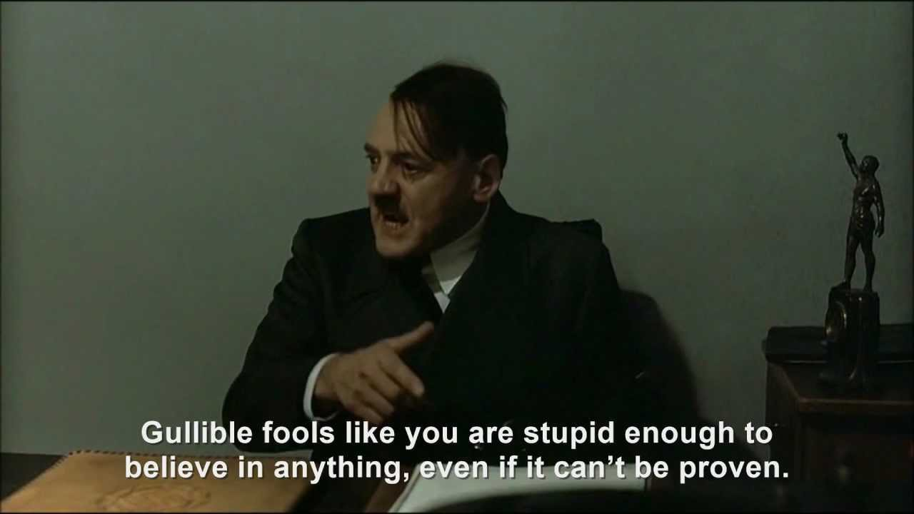 Hitler is informed the world will end in one month