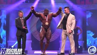 2018 ARNOLD CLASSIC - OPEN BODYBUILDING - AWARDS
