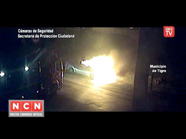 CINCO TV - Incendio vehicular fue controlado gracias al Sistema de Protección Ciudadana de Tigre