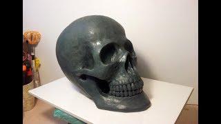 Modeling of plasticine skull - Пластилиновый череп