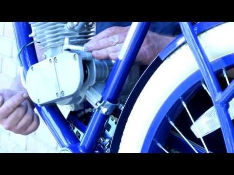 How To Build Motorized Bicycle Part 4 - Install & Align Rear Sprocket and Mount Motor