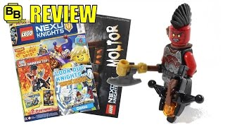 Lego nexo knights issue 5 magazine lava warrior review
