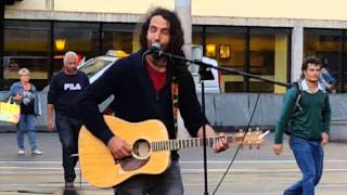 U2 With Or Without You - played by Giovanni street music Talent in the Heart Of Europe