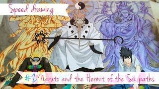 Speed Drawing - Naruto and the Hermit of the Six paths #2