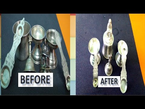 How to clean silver items at home || How to clean Silver vessels at home