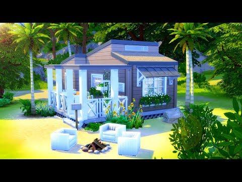 TINY BEACH HOUSE // Sims 4 Speed Build