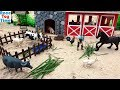 Farm Animals Toys in the Sandbox - Fun Toys For Kids