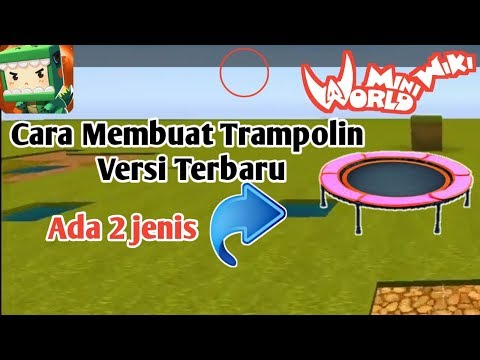 Cara Membuat Trampolin Di Mini World Bock Art Indonesia - Tutorial Mini World Block Art - 동영상