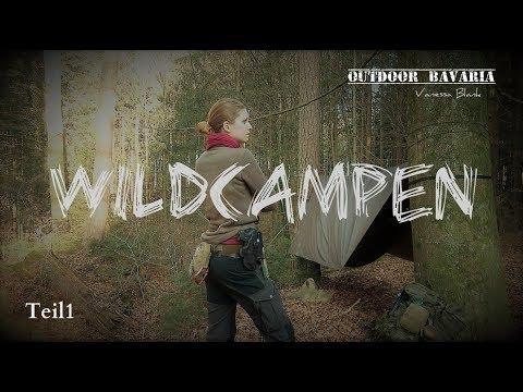 Wildcampen mit der Hängematte im Wald 🦊🔥 Vanessa Blank -Outdoor Bavaria - Teil1 - 4K